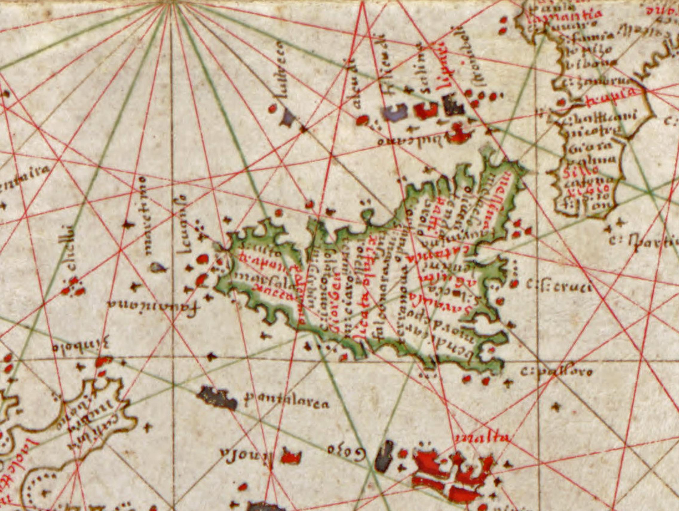 foto Portolan atlas of the Mediterranean Sea western Europe and the northwest coast of Africa