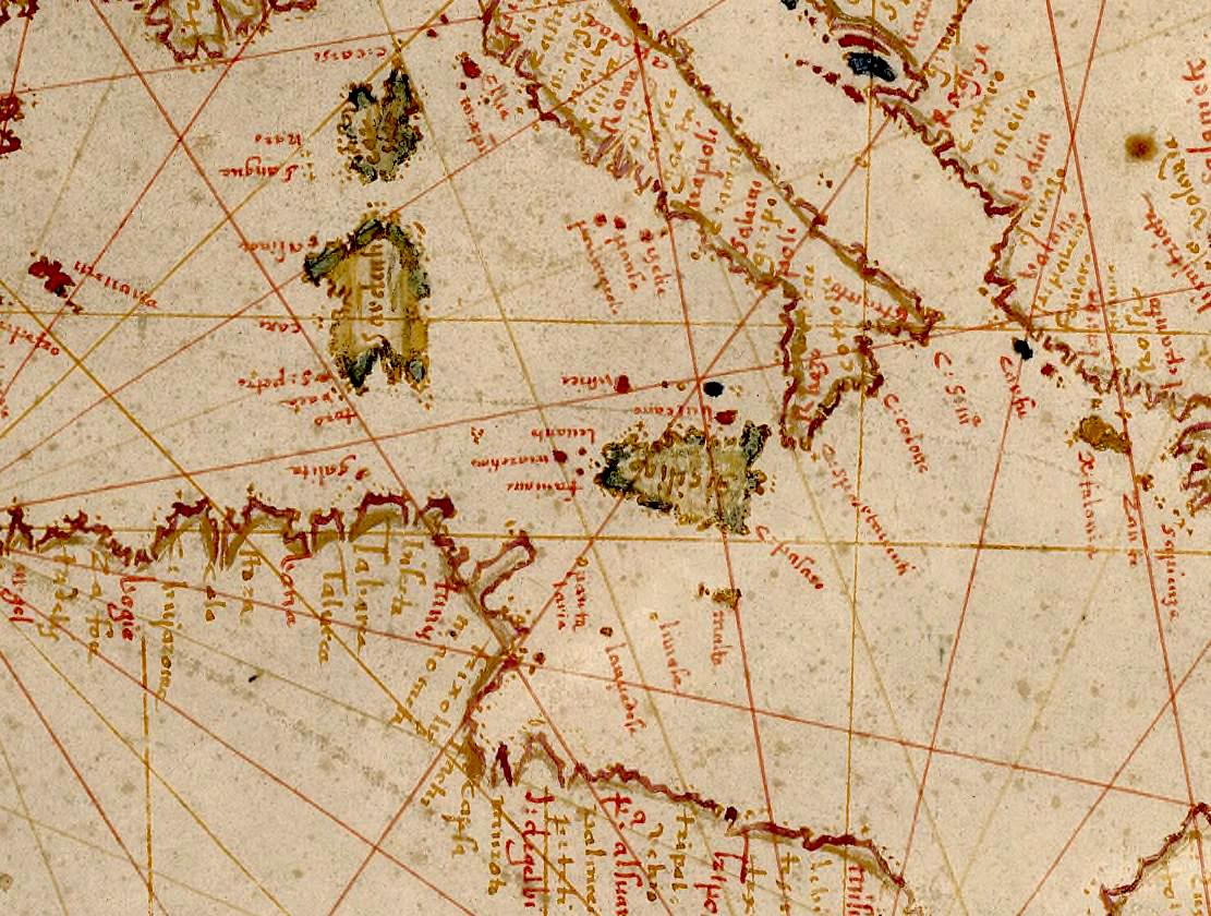 foto Carte portugaise des océans du globe
