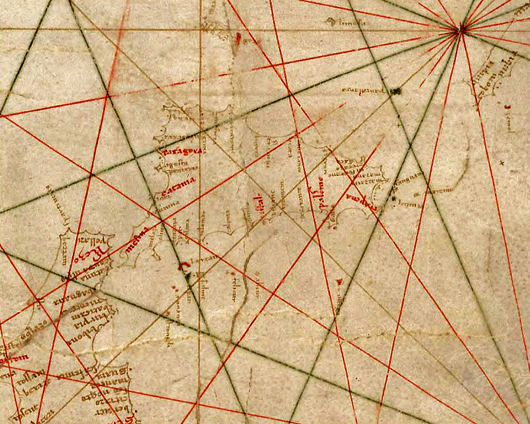 foto Anonymous nautical chart in portolan style probably drawn in Genoa.
