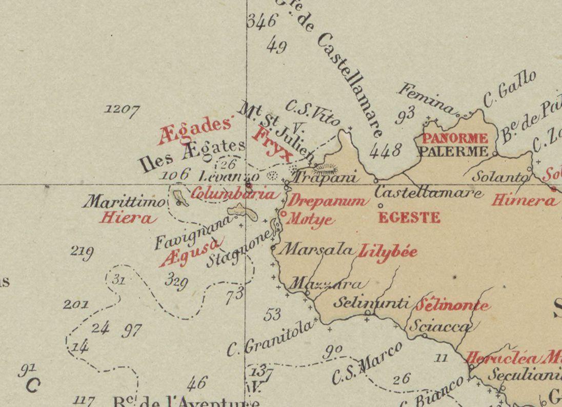 foto Carte des côtes de la Sicile et du canal de Malte, pour servir à l´intelligence des guerres puniques