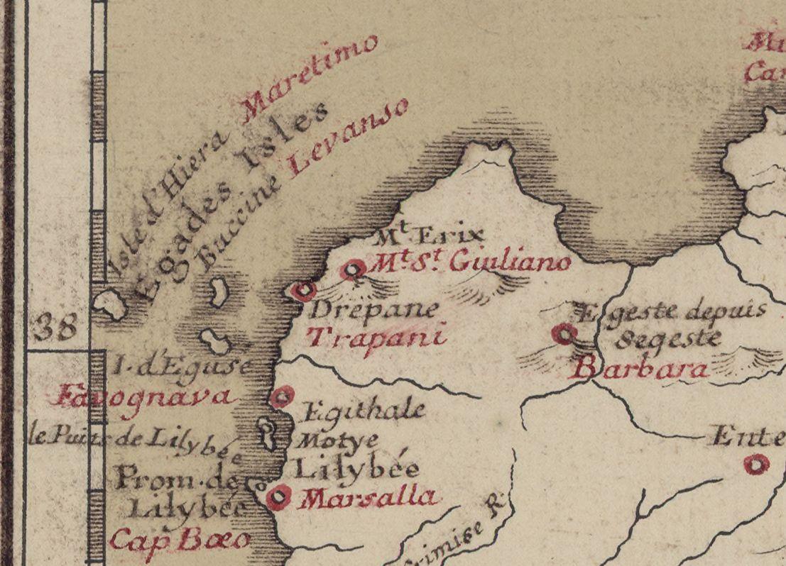 foto Titre : Carte de l'isle de Sicile ou de Trinacrie pour l'intelligence des différentes expéditions des grecs, des carthaginois et des romains dans cette isle