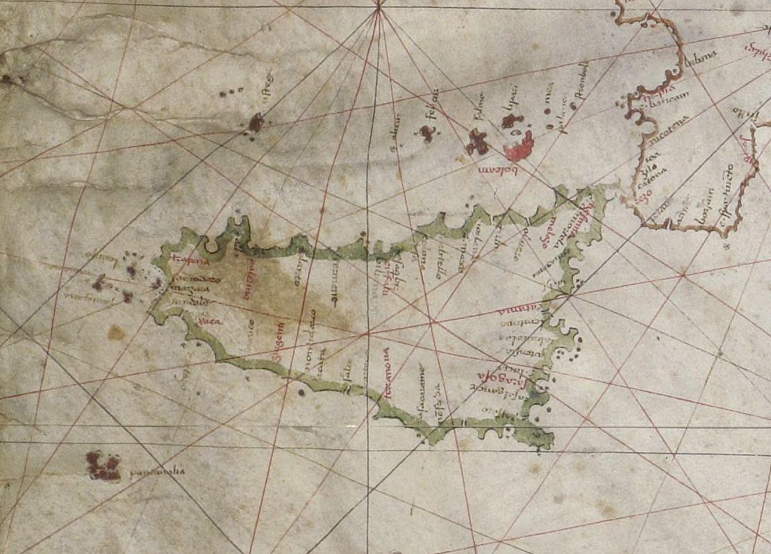 foto Carte nautique de la Méditerranée orientale