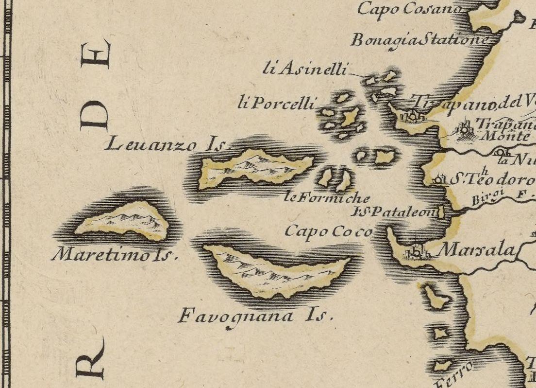 foto La Sicile divisée en ses trois provinces ...