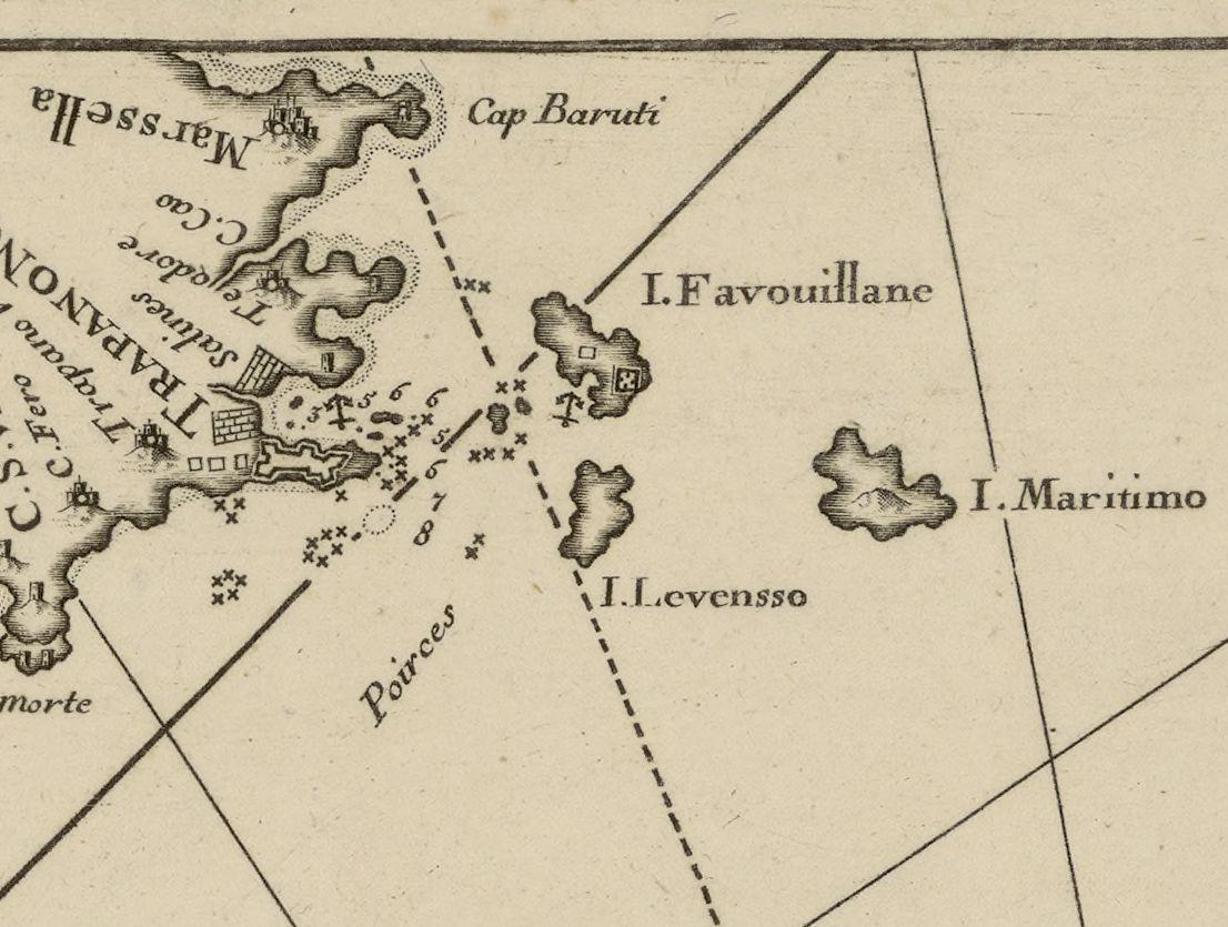 foto Suitte de la carte d'Italie depuis Mont Argentat jusqu'à Messine, les côtes du nord de Sicille et celles de l'est de Corce et Sardaigne