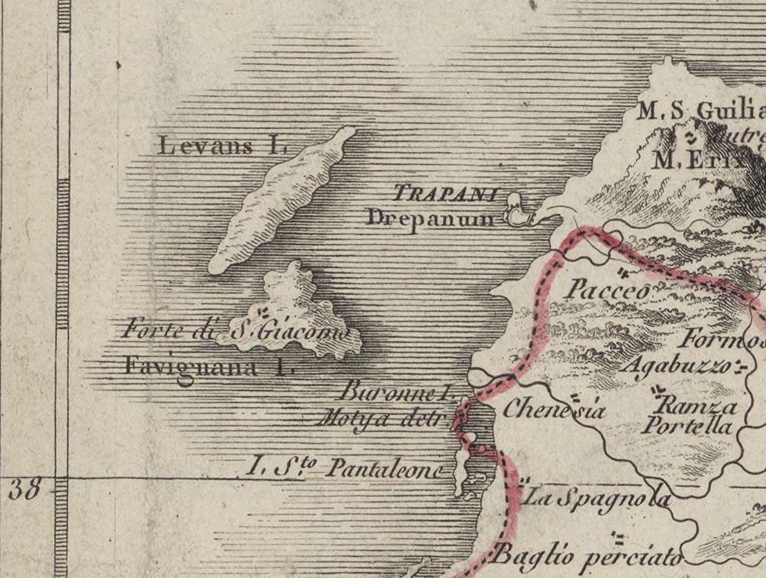 foto Carte de la Sicile et des Isles adjacentes
