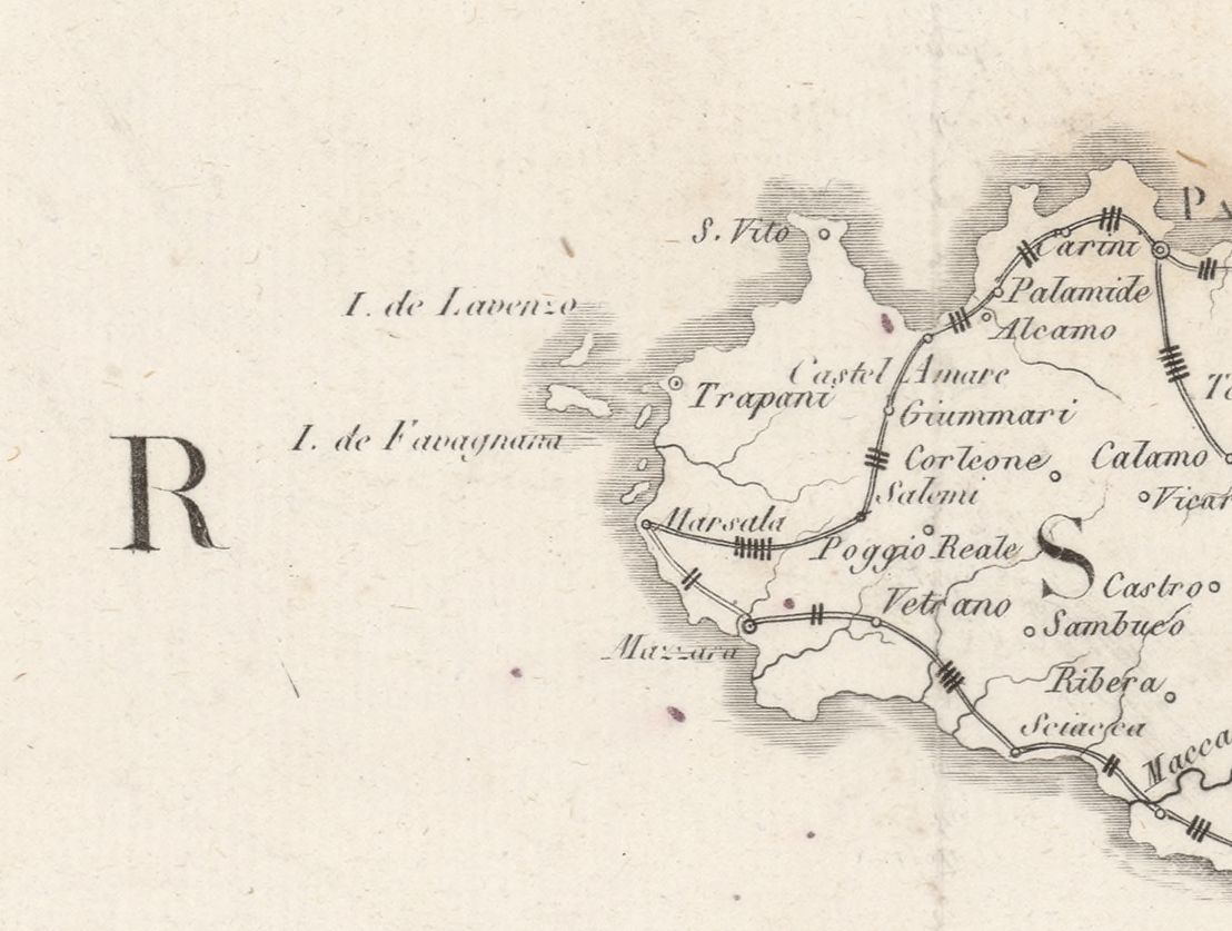 foto Nouvelle carte politique et itinéraires de l´Italie
