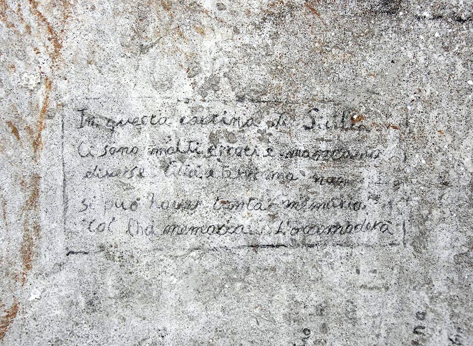 altra foto Mappa della Sicilia nelle carceri dell'Inquisizione–Steri