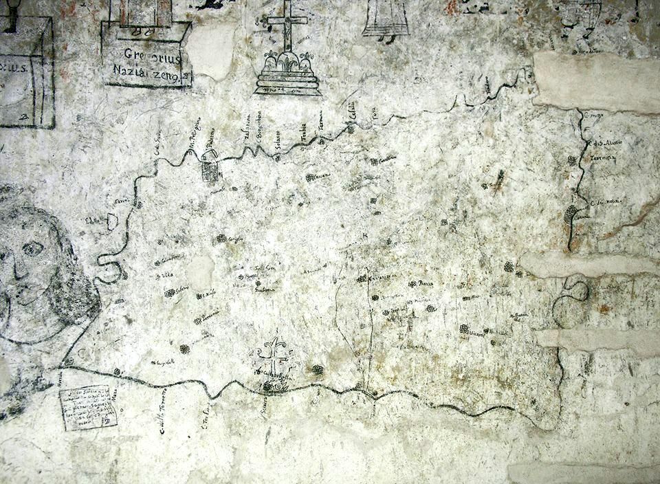 foto Mappa della Sicilia nelle carceri dell'Inquisizione–Steri