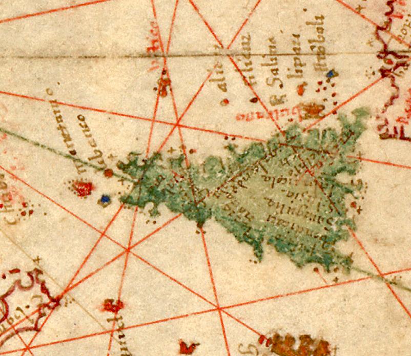 foto Nautical chart of Mediterranean