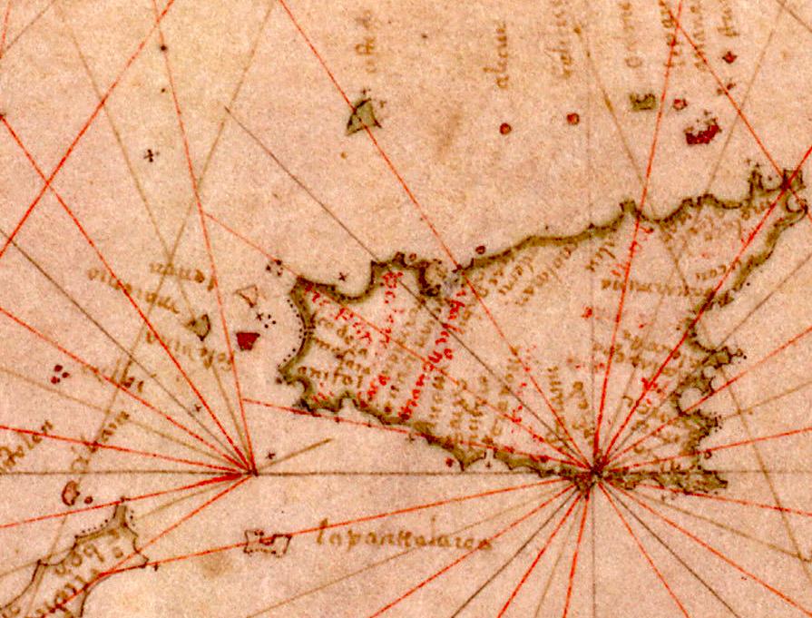foto Nautical chart of the Mediterranean area