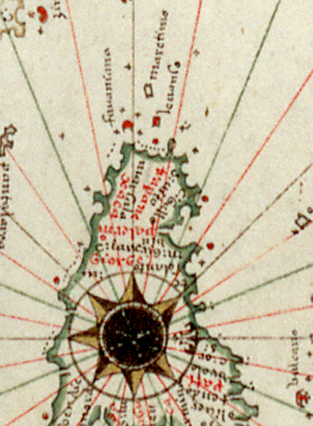 foto Nautical chart of Mediteranean Sea and Europe ...