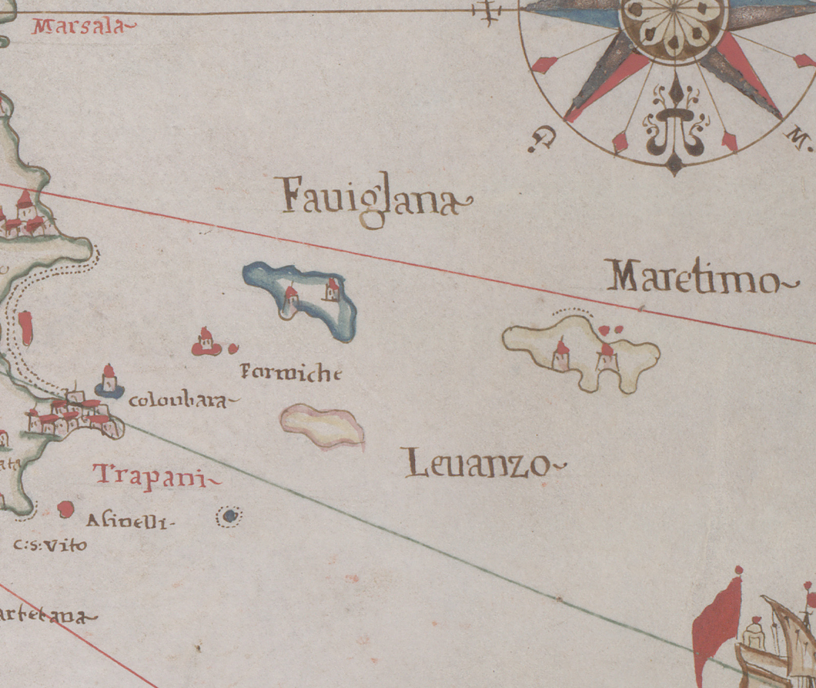 foto Atlas of the Mediterranean area containing 6 nautical charts: 4. Sicily