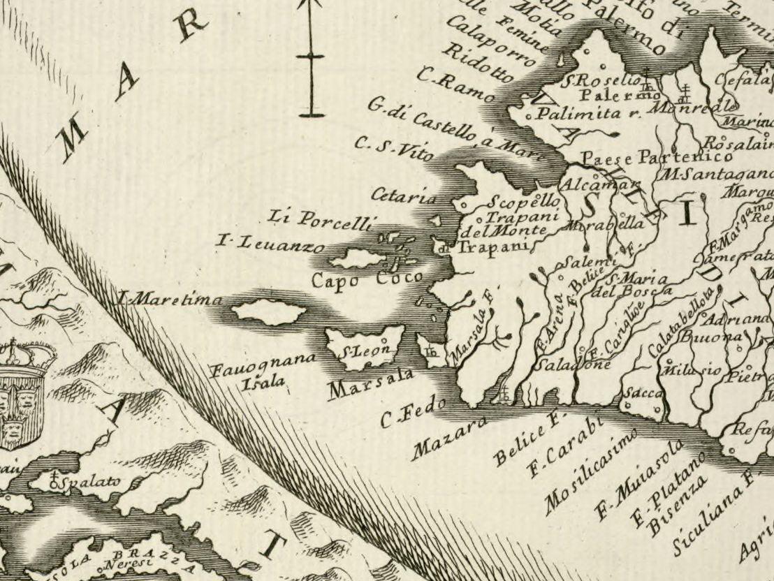 altra foto Ristretto del Mediterraneo ... [with] Parte Orientale del Mediterraneo ...
