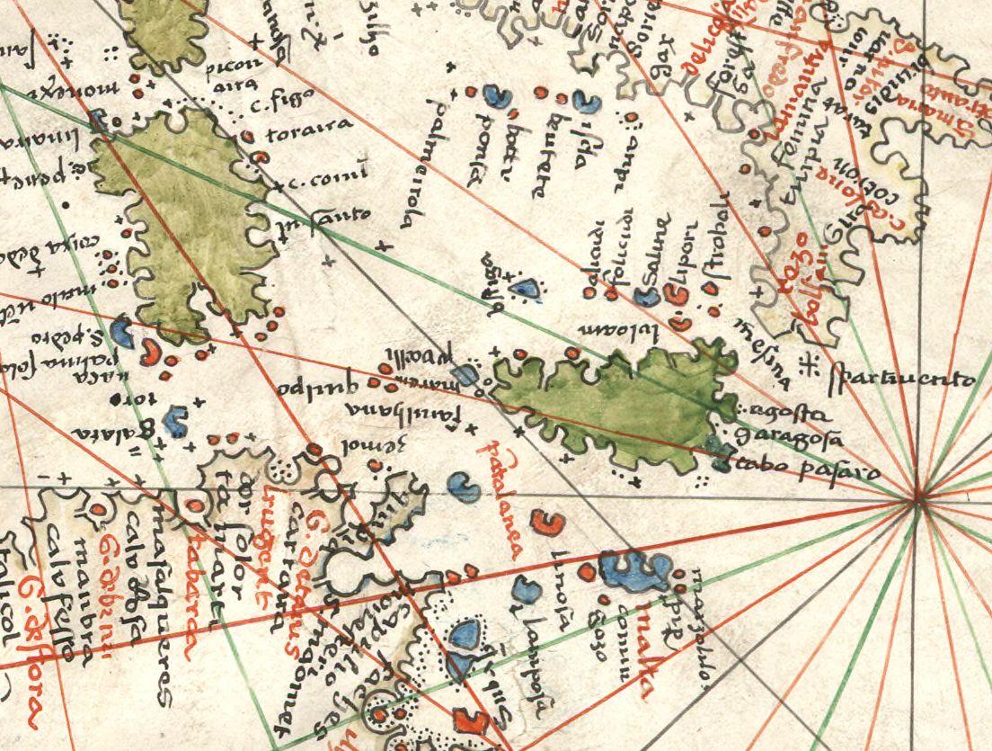 foto Carte de l'Océan Atlantique, de la Mer Méditerranée et de la Mer Noire] (Fac-similé manuscrit