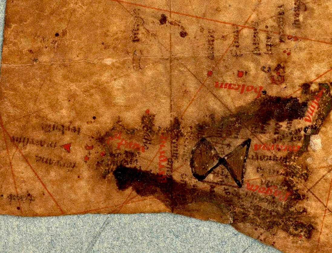foto Fragments d'une carte nautico-géographique de la mer Méditerranée