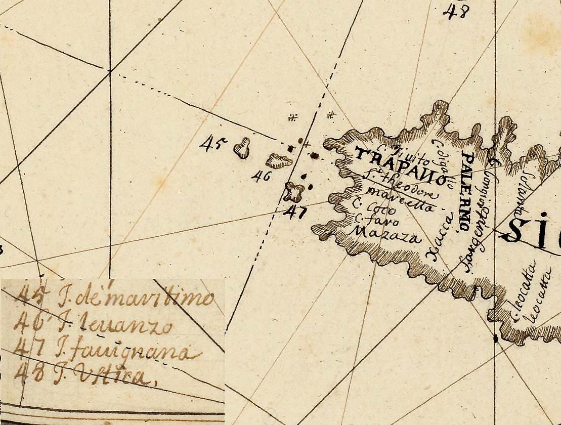 foto La carte de la mer Méditerranée