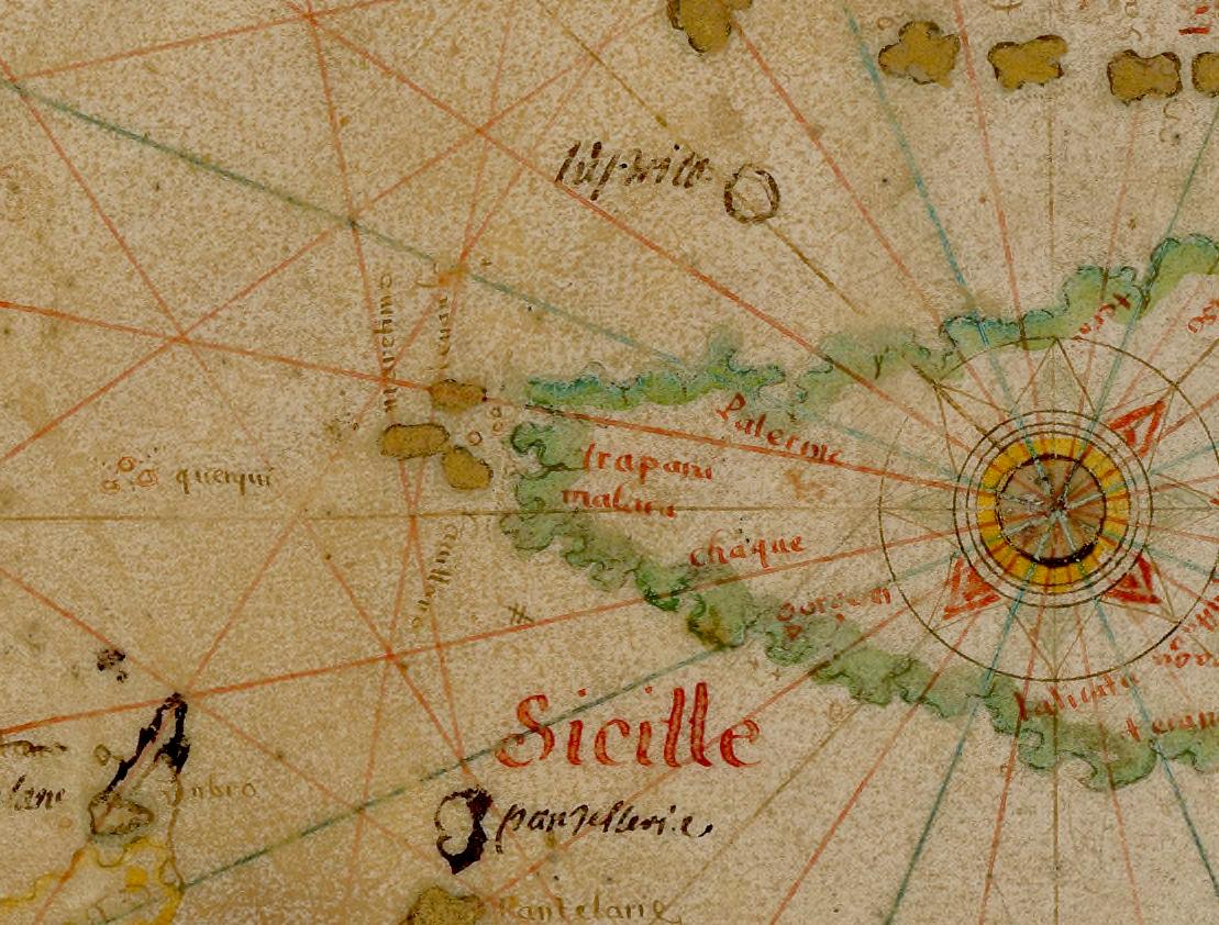 foto Carte graduée de la mer Méditerannée