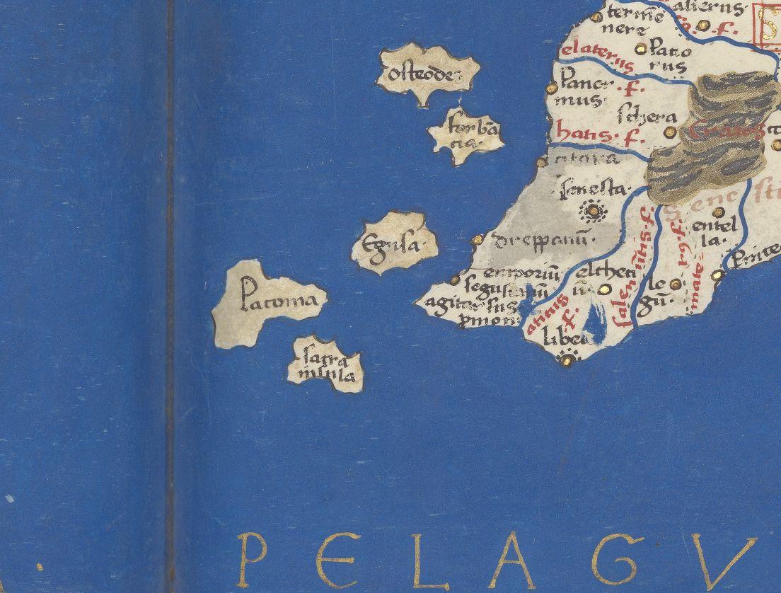 foto Claudius Ptolemaeus, Cosmographie libri octo, dans la traduction latine de Jacobus Angelus