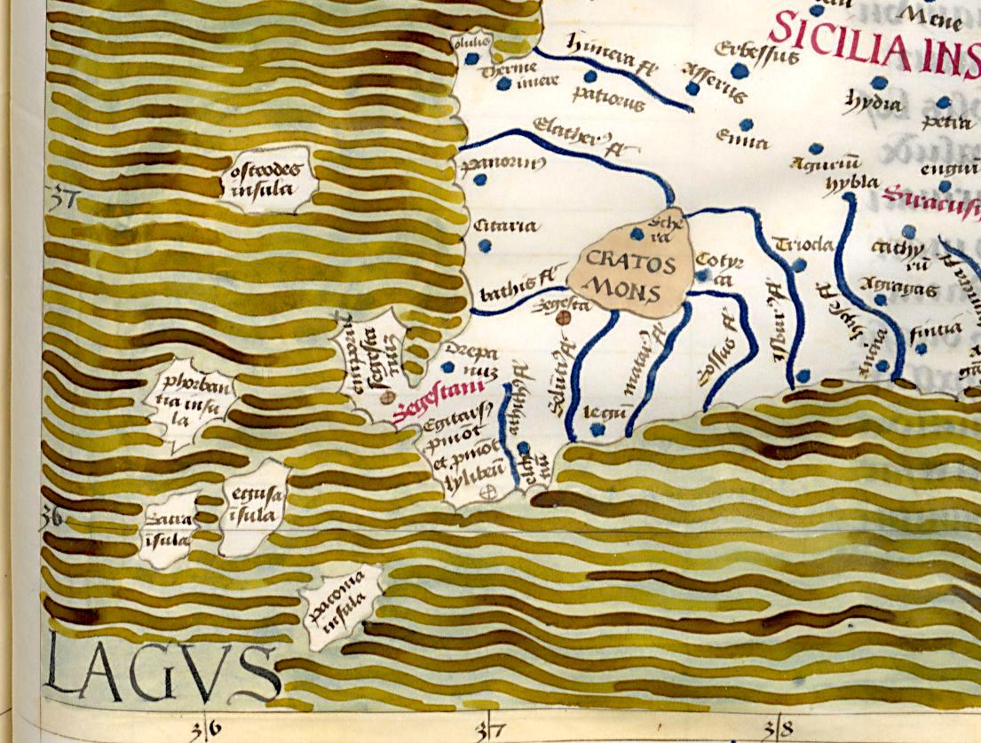 foto Claudius Ptolemaeus , Cosmographia , Jacobus Angelus interpres