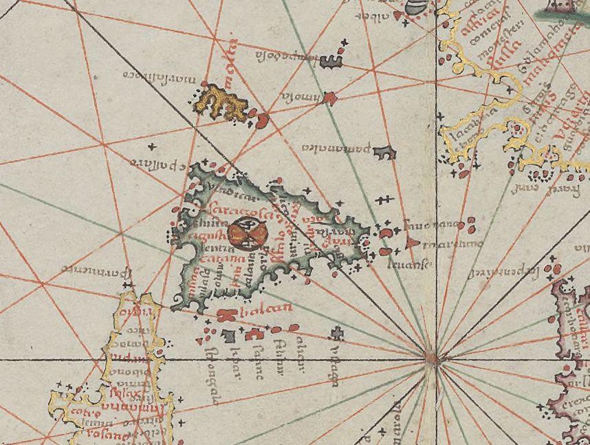 foto Atlas nautique du monde composé de sept cartes manuscrites sur vélin