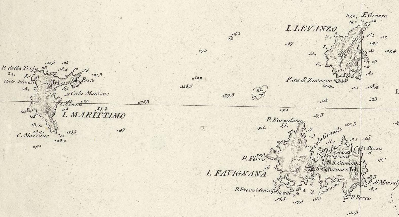 foto Carta generale della isola di Sicilia compilata disegnata ed incisa dall´Officio Topografico di Napoli ...