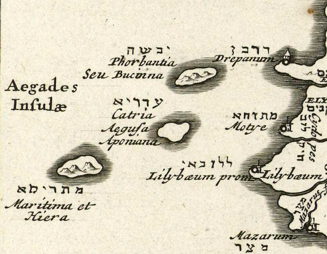 foto Kaart van Sicilië Sicilia Insula