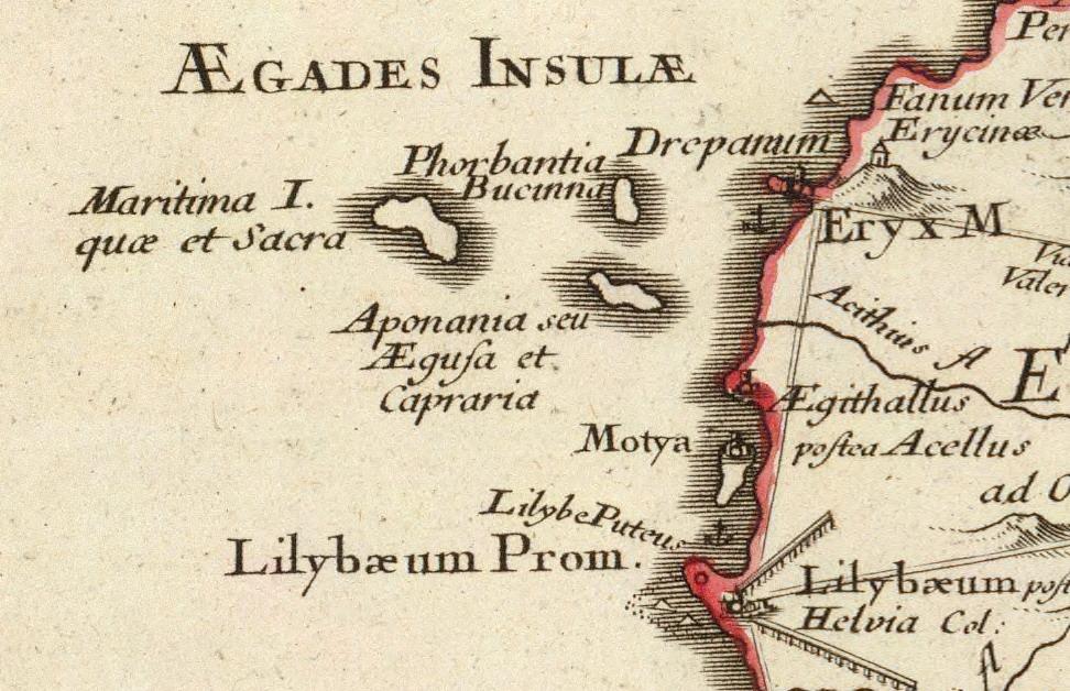 foto Siciliae Antiquae quae et Sicania et Trinacria dicta tabula geographica.