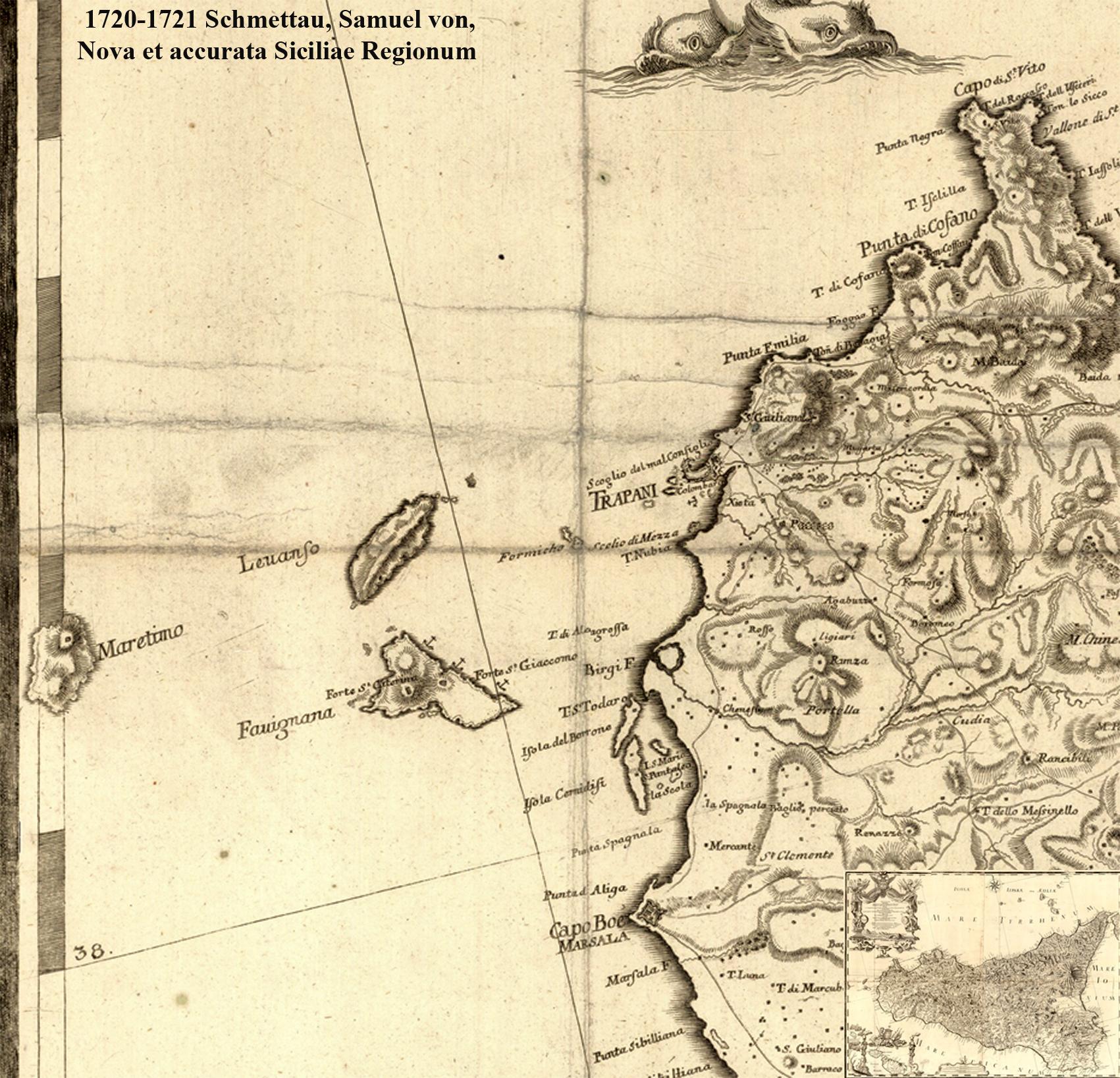 foto Nova et accurata Siciliae Regionum, Urbium, Castellorum, Pagorum Montium, Syl...
